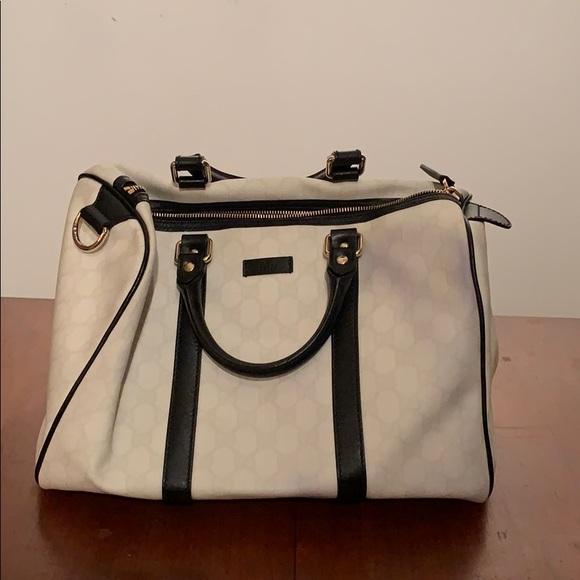 6ba52b692e6b Gucci Bags | Gg Coated Canvas Medium Joy Boston Bag | Poshmark